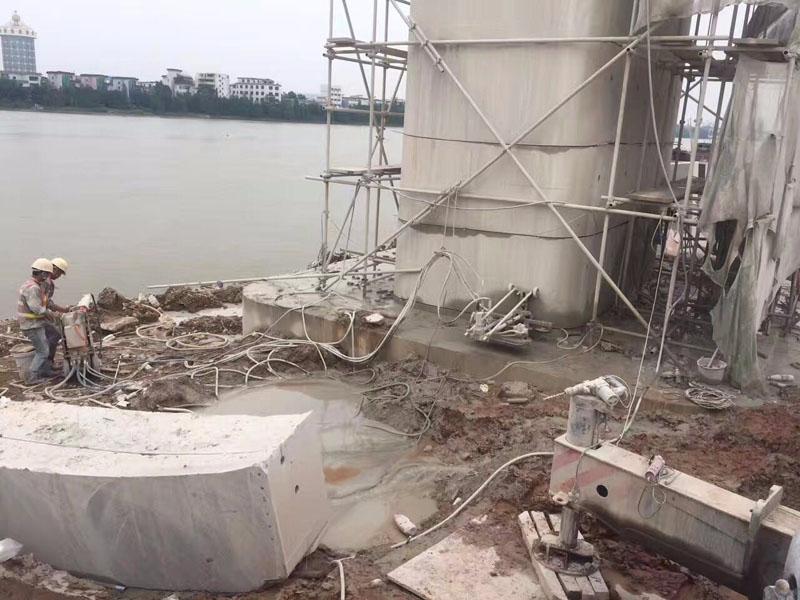 唐山高速路桥梁切割拆除|支撑梁切割工程案例